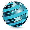 Vector clipart: globe with arrows