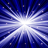 Векторный клипарт: Синий фон с лучами