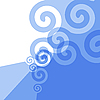 Vector clipart: blue texture with swirls