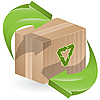 Vector clipart: box and recycling sign