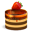 Vector clipart: cake with strawberry