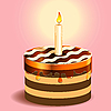 Vector clipart: cake and candle