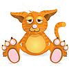 Vector clipart: comic cat