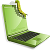 Vector clipart: caterpillar and notebook