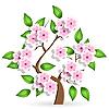 Векторный клипарт: вишневое дерево
