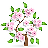 Vector clipart: cerise tree
