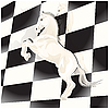 Vector clipart: chess board and horse