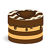 Vector clipart: chocolate cake