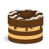 Векторный клипарт: шоколадное пирожное