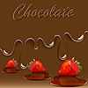Vector clipart: chocolate, strawberry and caramel