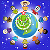 Vector clipart: christmas world of kids