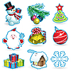 Vector clipart: christmas set