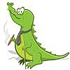 Векторный клипарт: мультяшный крокодил