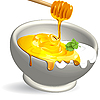 Vector clipart: dairy product and honey