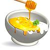 Векторный клипарт: молочные продукты и мед