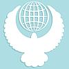 Векторный клипарт: Белый голубь