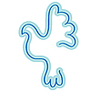 Векторный клипарт: голубь