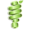 Vector clipart: eco light bulb
