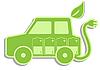 Векторный клипарт: Электрический автомобиль