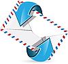 Векторный клипарт: Конверт и Голубая стрела