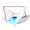 Vector clipart: Envelope, feather and inkwell
