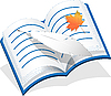 Vector clipart: Feather And Notebook