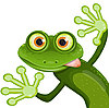 Vector clipart: frog cartoon