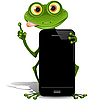 Vector clipart: frog and cellular telephone