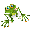 Vektor Cliparts: Frosch Cartoon