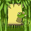 Frosch im Bambus