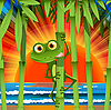 Vector clipart: Frog in bamboo