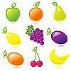 Векторный клипарт: фрукты