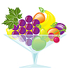 Vector clipart: fruits in vase