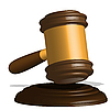 Vector clipart: justice gavel
