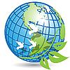 Векторный клипарт: земной шар и ветка