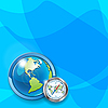 Vector clipart: globe and compass