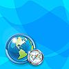 Векторный клипарт: мира и компас