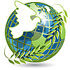 Vector clipart: globe and dove