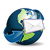 Vector clipart: globe and envelope