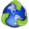 Векторный клипарт: Земной шар и зеленые стрелки