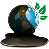 Vector clipart: globe and oil