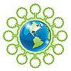 ID 3099458 | 地球和树 | 向量插图 | CLIPARTO