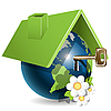 Vector clipart: Globe House