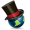 Vector clipart: globe in cylinder