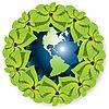 Векторный клипарт: земного шара в листе