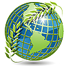 Vector clipart: globe in wreath