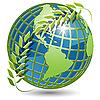 Векторный клипарт: земного шара в венке