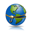Vector clipart: globe on lock