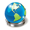 Vector clipart: globe on stand