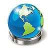 Векторный клипарт: земной шар на подставке
